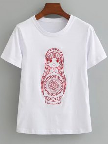 Cute Cotton Embroidered T-Shirt