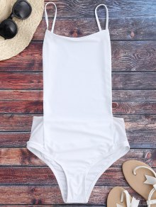 Spaghetti Straps Backless One Piece Swimsuit
