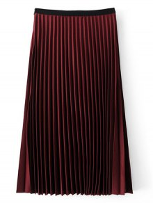 Midi High Waisted Pleated Skirt