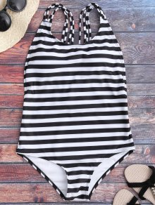 Strappy Open Back One Piece Swimsuit