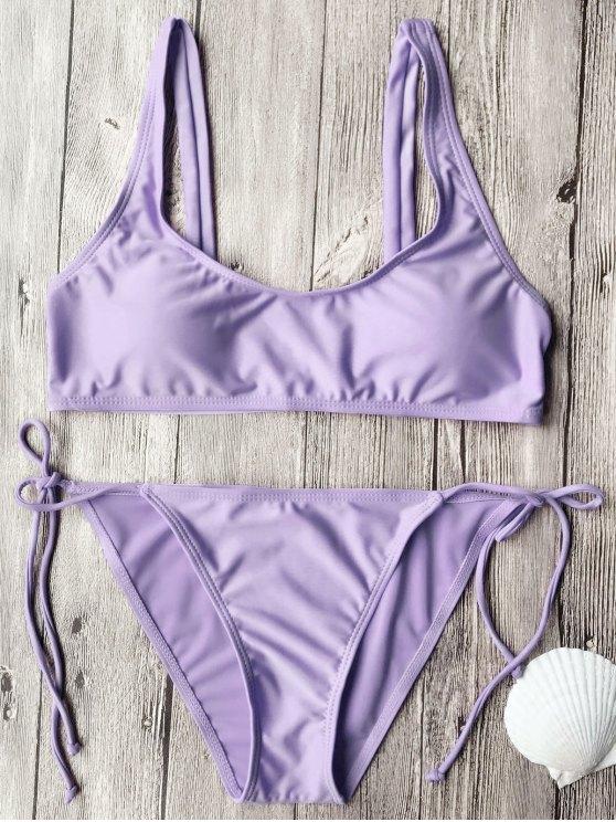 Ensemble de bikini à col rapproché - Pourpre S