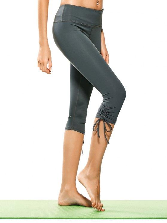 Pantalones Capri Yoga de Cordón - Gris M