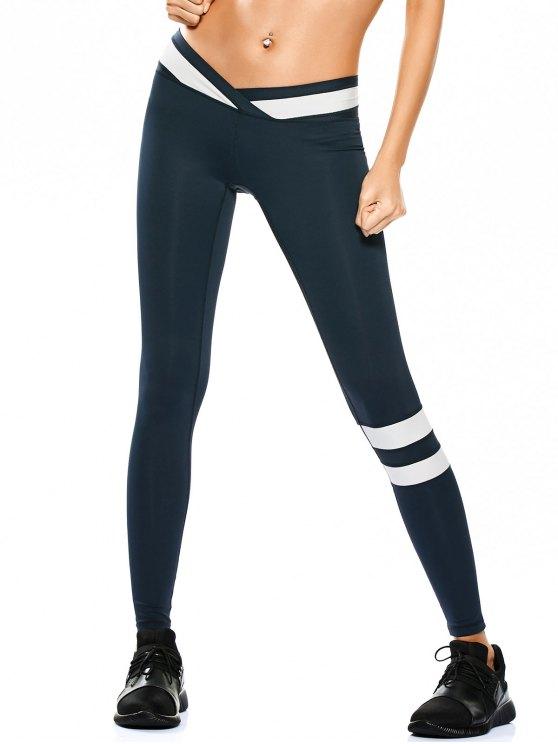 Leggings de yoga de dos tonos Activewear - Teal S