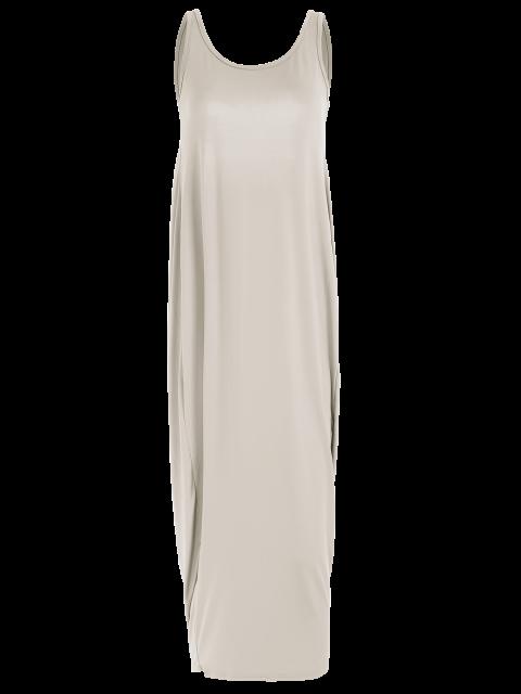 shops Baggy Maxi Tank Dress - KHAKI S Mobile