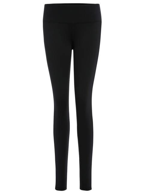 Leggings de yoga étirés - Noir L Mobile