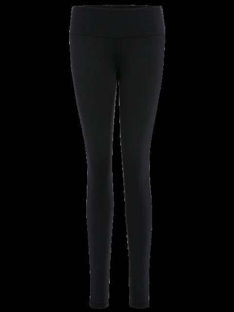 Leggings de yoga étirés - Noir M Mobile