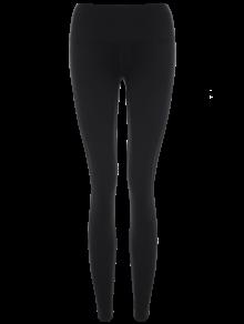 leggings yoga transparent panneau de maille noir bas de sport xl zaful. Black Bedroom Furniture Sets. Home Design Ideas