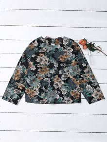 Back Bow Tie Floral Top
