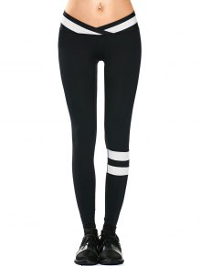 Activewear Two Tone Yoga Leggings - Black M