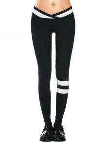 Activewear Two Tone Yoga Leggings - Black S