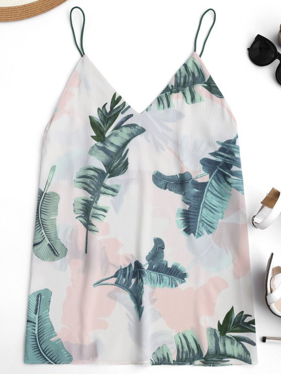 new Mini Tropical Print Casual Dress - OFF-WHITE ONE SIZE