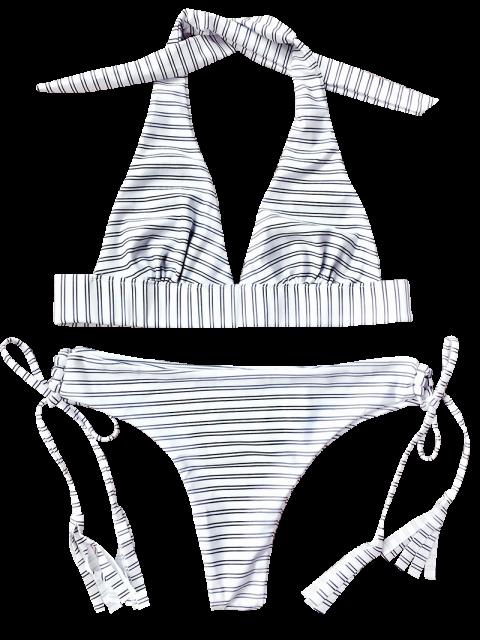 Ensemble de bikini plongé à col rayé - BANDE S Mobile