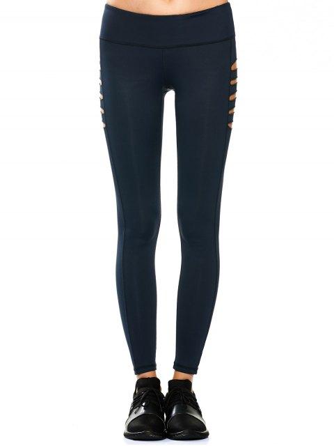 Leggings de yoga étirés - Bleu Cadette XL Mobile