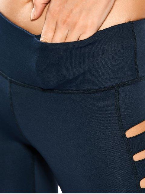Leggings de yoga étirés - Bleu Cadette M Mobile
