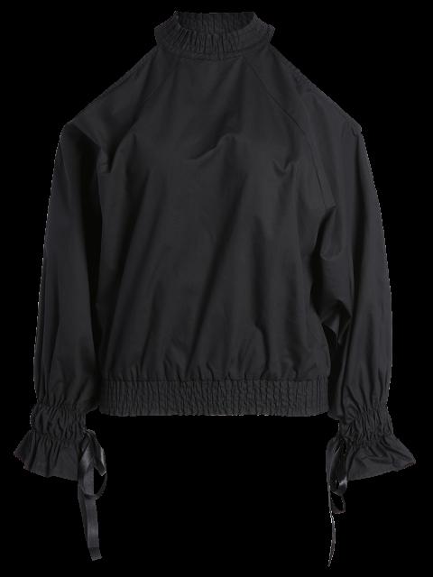 women's Cold Shoulder Blouse - BLACK XL Mobile