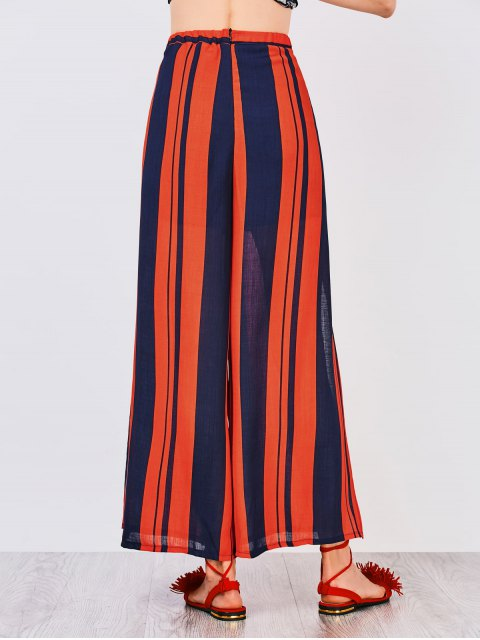 womens High Slit Wide Leg Pants - COLORMIX S Mobile