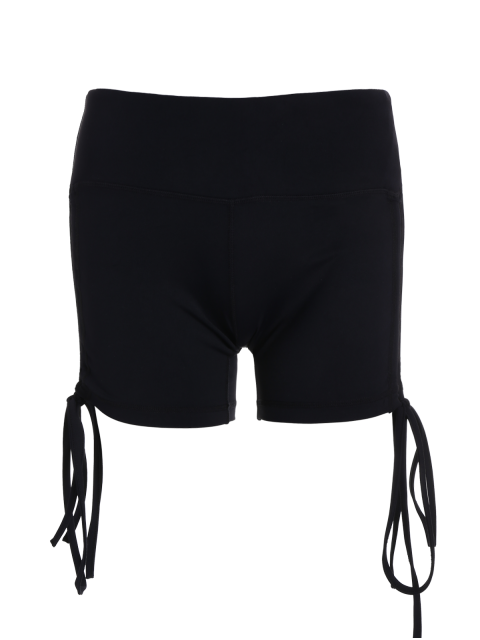 outfit Side Drawstring Sporty Shorts - BLACK L Mobile