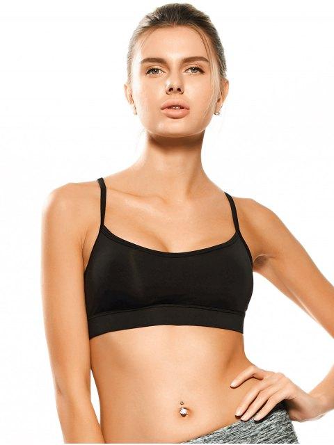 buy Padded Y Back Activewear Bra - BLACK S Mobile