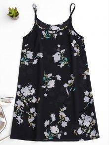 Robe à Glissière Florale - Noir 2xl