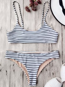 Cami Striped Bralette Bikini Set