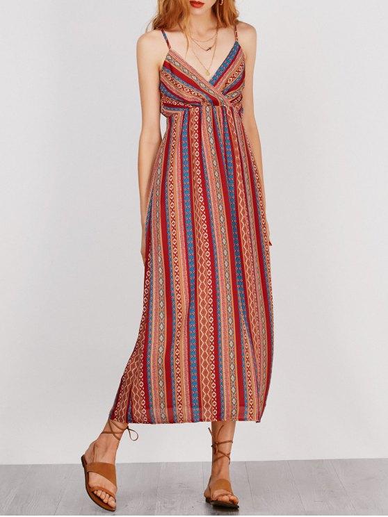 Vestido de encaje con rayas - Colormix M