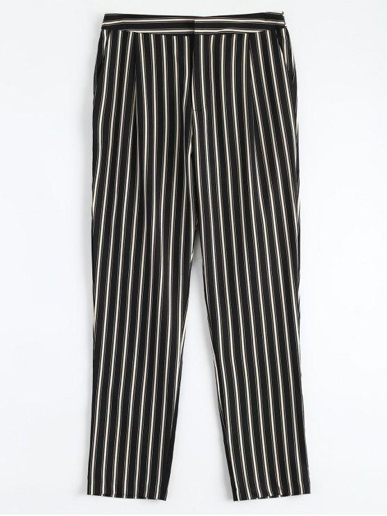 latest Cigarette Striped Suit Pants - STRIPE L