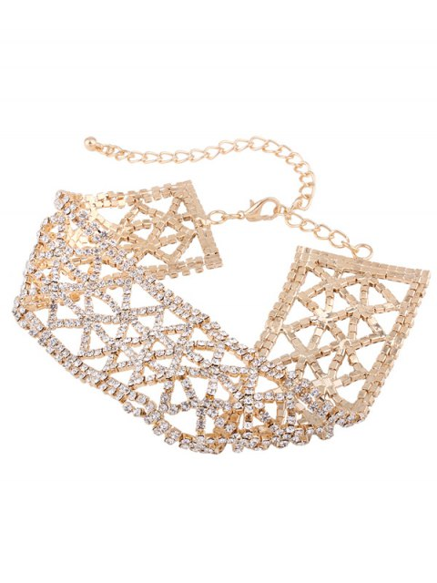 outfits Sparkly Alloy Rhinestone Geometric Necklace - GOLDEN  Mobile