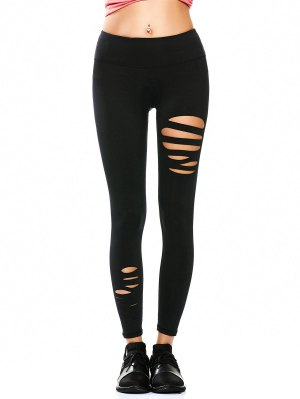 Ripped Tights Running Sports Leggings