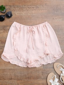 Satin Drawstring Tulip Cover Up Shorts