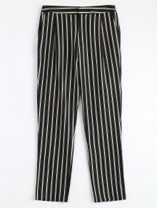 Cigarette Striped Suit Pants