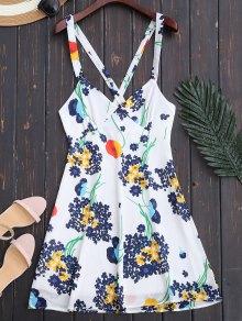 Floral Open Back Empire Waist Summer Dress