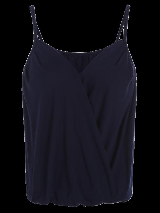 V Neck Wrap Cami Top - PURPLISH BLUE M Mobile