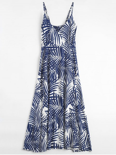 outfits Palm Tree Print Slip Maxi Holiday Dress - COLORMIX L Mobile