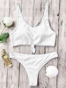 Knotted Bralette High Cut Bikini Set