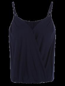 Débardeur Porte-feuille Décolleté En Coton Avec Bretelles - Bleu Violet