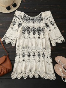 Hollow Out Scalloped Beach Top
