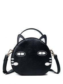 Buy Cat Shaped Mini Crossbody Bag - BLACK