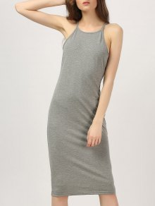 Midi High Neck Bodycon Dress