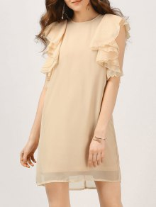 Chiffon Ruffles Mini Dress