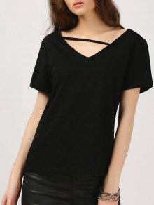 Cozy Cotton T-Shirt - Black M