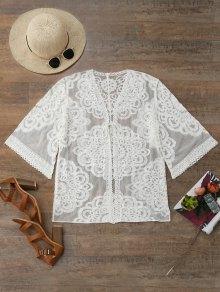 Lace Kimono Cover Up