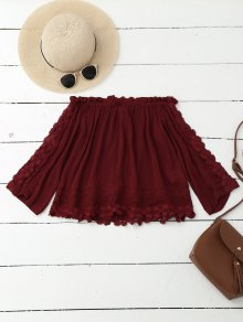 Crushed Off Shoulder Crop Top