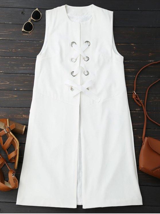 Chaleco de lana con cordones - Blanco S