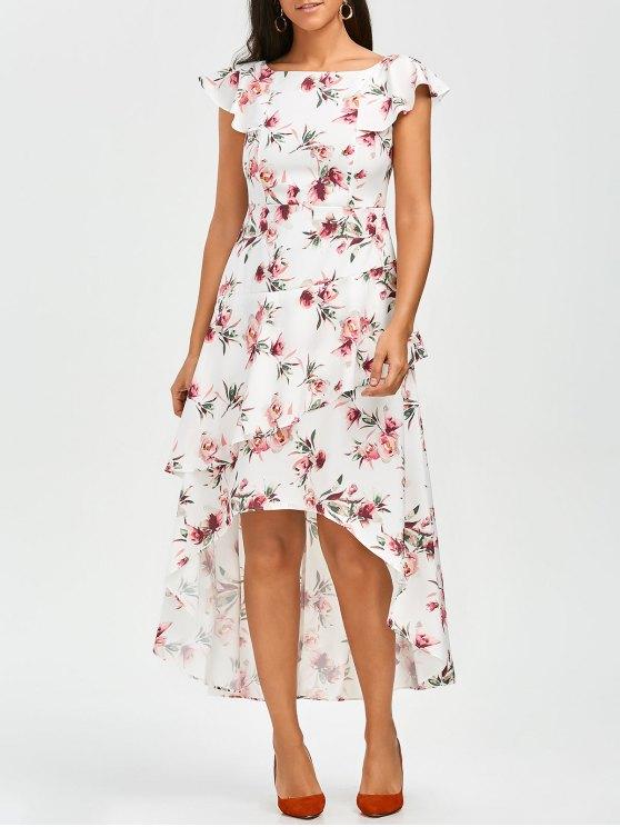 new Floral Asymmetrical A-Line Dress - FLORAL S