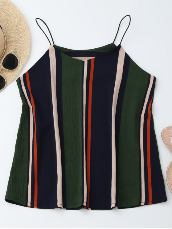 outfits Elastic Straps Striped Tank Top - STRIPE XL