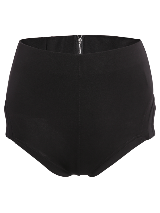 High-Waisted Black Shorts - BLACK XL Mobile