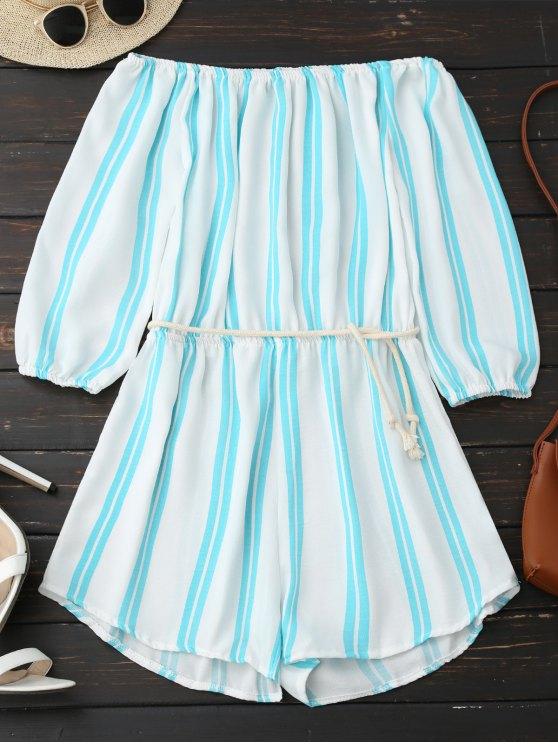 Robe rayée à l'épaule - Rayure XL