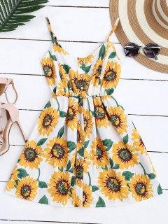 Cami Smocked Floral Mini Dress - White