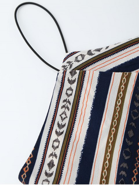 trendy Elastric Waist Multi Stripes Sundress - COLORMIX XL Mobile