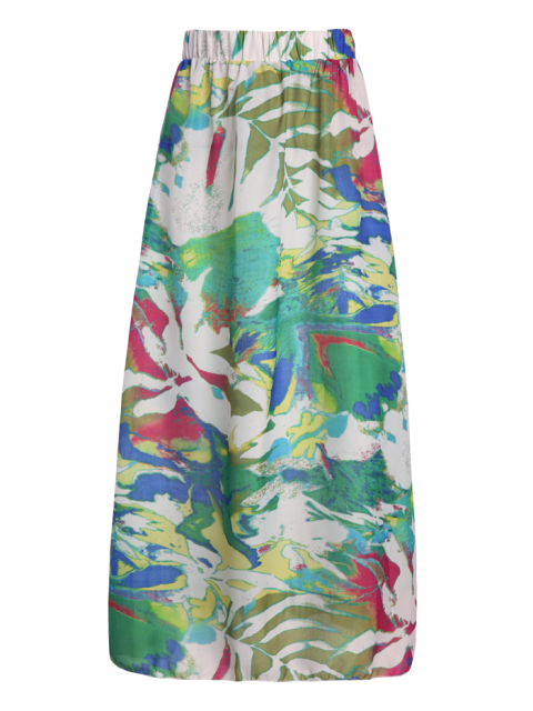 buy Printed Chiffon Maxi Skirt - COLORMIX XL Mobile